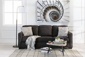 alenya charcoal queen sofa sleeper living spaces