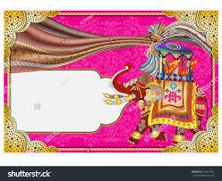 Ganesh Puja Invitation Card Vector Illustration Indian Wedding Invitation Card Stock Vector