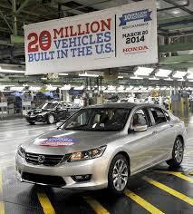 where is the honda accord made honda s ohio assembly line hits 10m