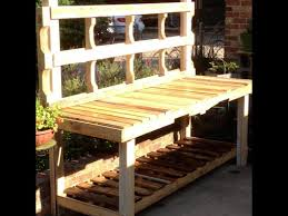 How To Build A Garden Bench Using Pallets To Build A Potting Bench Youtube
