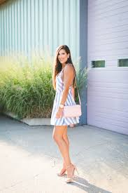stripe cutout dress a southern drawl