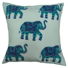 Elephant Decor For Home Decor Smith Bombay Elephant Pillow In Blue And White For Living