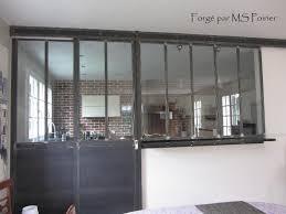 separation en verre cuisine salon cloison séparation cuisine salon coulissante type atelier d artiste