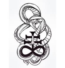 snake with satanic cross royalty free vector image