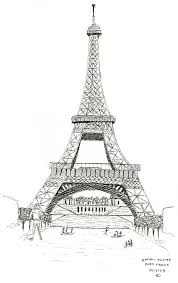 drawn eiffel tower europe pencil and in color drawn eiffel tower