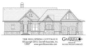 mill spring cottage ii house plan house plans by garrell