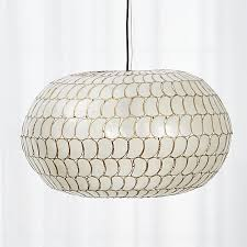 Capiz Light Pendant Capiz Pendant In Pendant Lights Reviews Cb2
