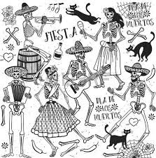 Day Of The Dead White Day Of The Dead The Skeleton Dance Royalty Free Cliparts
