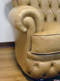 Chesterfield 3 Seater Sofa by Buttoned Leather Sofa In The Chesterfield Style