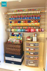 how to store wrapping paper and gift bags diy wrapping paper organizer