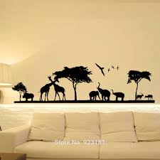 jungle wall art decals color the walls of your house jungle wall art decals hot safari jungle animal nursery wall art sticker decal home diy