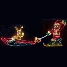 Lighted Animated Outdoor Christmas Decorations by Animated Waving Santa Outdoor Yard Art Display Large Outdoor