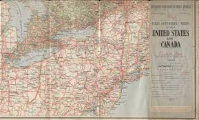 Road Map Of Canada by 1940 U0027s Road Maps Of Pennsylvania