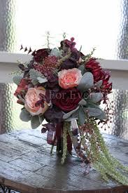 Silk Bridal Bouquet Esmeralda Whimsical Burgundy Wine Silk Bridal Bouquet 2543268