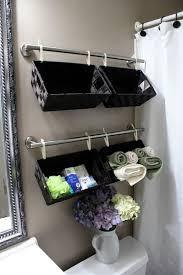 bathroom basket ideas bathroom black painted hanging bathroom storage basket ideas