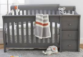 Grey Convertible Cribs Sorelle Princeton Elite 4 In 1 Convertible Crib And Changer