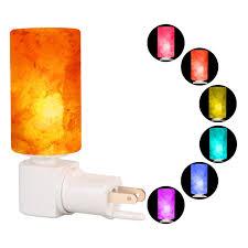 crystal plug in night light crystal salt l targher hymalain salt l mini night light with
