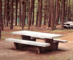 Concrete Table And Benches Concrete Picnic Tables Park Tables U0026 Benches Are Durable Stylish
