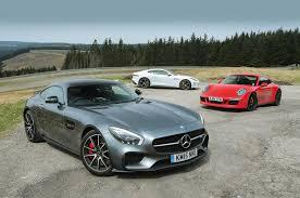 jaguar f type vs porsche 911 mercedes amg gt s vs porsche 911 gts and jaguar f type r autocar