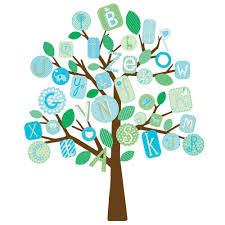 wall decals alphabet tree color the walls of your house abc alphabet tree wall decals mural baby boy