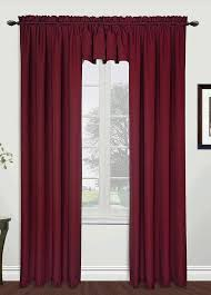 Burgundy Curtains With Valance Metro 54 X 84 Panel Burgundy United View All Curtains