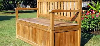 storage benches doing double duty outsiders within outdoor