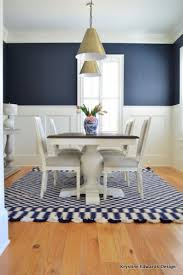 Krystine Edwards Real Estate  Design Blue  White Dining Room Reveal - Navy and white dining room