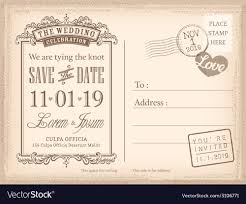 save the date postcard vintage postcard save the date background vector image