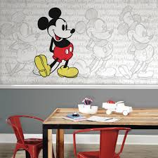 Mickey Mouse Table And Chairs by Roommates Mickey Mouse Classic Mickey Xl Chair Rail Prepasted