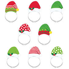 christmas headbands amscan 8 in x 4 5 in santa and christmas headbands 8 count