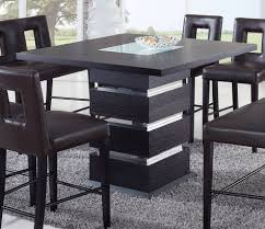 wenge frosted center glass wood werner dining table home style square kitchen