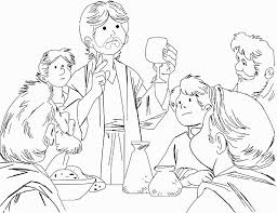 Holy Thursday Coloring Pages Getcoloringpages Com Last Supper Coloring Page