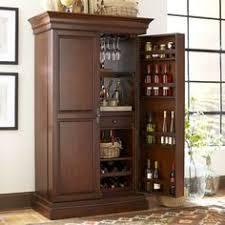 Victuals Bar Cabinet Shop Victuals Walnut Bar Cabinet Paneled Walnut Wood Doors Open