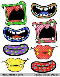 monster mouths photo props instant download kit set of 8
