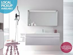 750mm Vanity Units For Bathroom by Asti 1200mm White Gloss Polyurethane Wall Hung Soft Close
