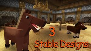 3 horse stables designs u0026 ideas minecraft youtube