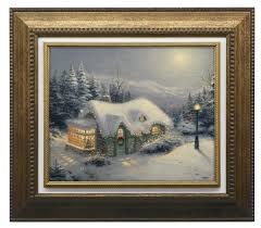 silent night texture print framed with bonus christmas miracle dvd