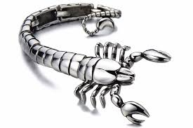 man stainless bracelet images 2018 cool mens bracelet large scorpion bracelet man biker jewelry jpg