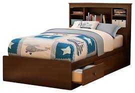 Bed Frames With Storage Drawers And Headboard Xl Platform Bed With Bookcase Headboard 3 Storage Drawers