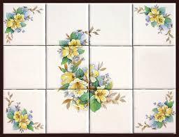 Ceramic Tile Murals For Kitchen Backsplash Rub On Decals For Tile Ceramic Tile Murals With Matching Accent