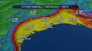 rainfall totals map why heavy is threat for hurricane harvey nbc 5 dallas