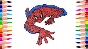 painting spiderman color spiderman coloring pages