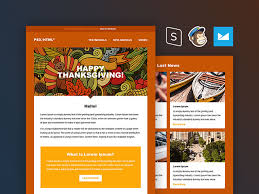 thanksgiving email template free html by pixelbuddha