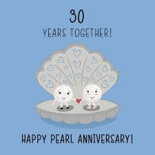 30 wedding anniversary wedding ideas 30th wedding anniversary card pearl 40th gifts for