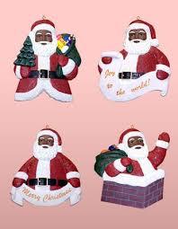 american santa claus ornament set the black