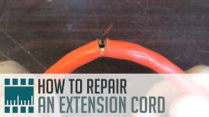 how to repair an extension cord youtube