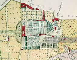 Map Of Florence Italy Detail Of Plan Of Villa Medici Di Castello Florence Italy 16th