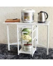 fall into savings on ktaxon folding rolling kitchen island cart