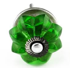 emerald green glass cabinet knobs 12pc cupboard drawer pulls