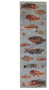 Fish Runner Rug Fish Design Runner J49747